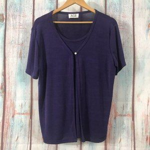 💎 AGB Illusion Layered Blouse Size M/L